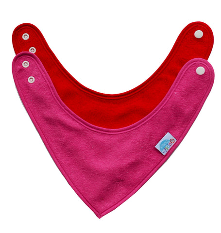 Cotton Terry Bandana Bibs - 2 pack