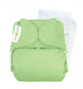 pale green pocket nappy by bum genius