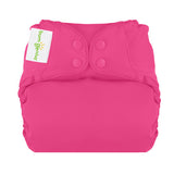 countess bold pink elemental organic cotton all in one nappy by bum genius