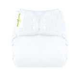 white elemental organic cotton all in one nappy by bum genius