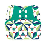 bold geometric print elemental organic cotton all in one nappy by bum genius