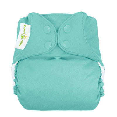turquoise freetime all in one nappy by bum genius