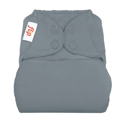 grey nappy cover by flip with poppers
