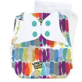 love multicoloured print freetime all in one nappy by bum genius