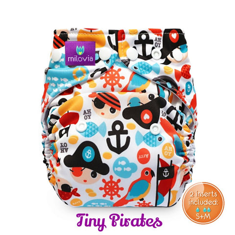 pirate print pocket nappy by milovia