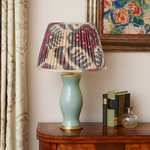 BLUE AND MAGENTA IKAT LAMPSHADE - LOW IN STOCK