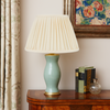 PLEATED LINEN LAMPSHADE IN CREAM