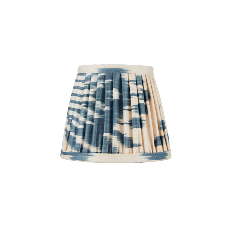 BLUE AND CREAM IKAT WALL LIGHT