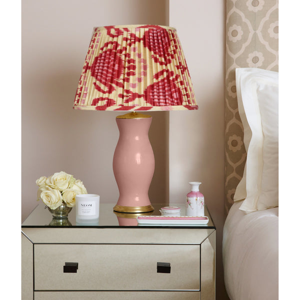 Pink and Red Silk Ikat Lampshades Shot