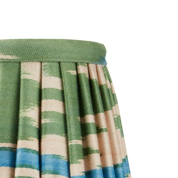 GREEN AND BLUE IKAT WALL LIGHT