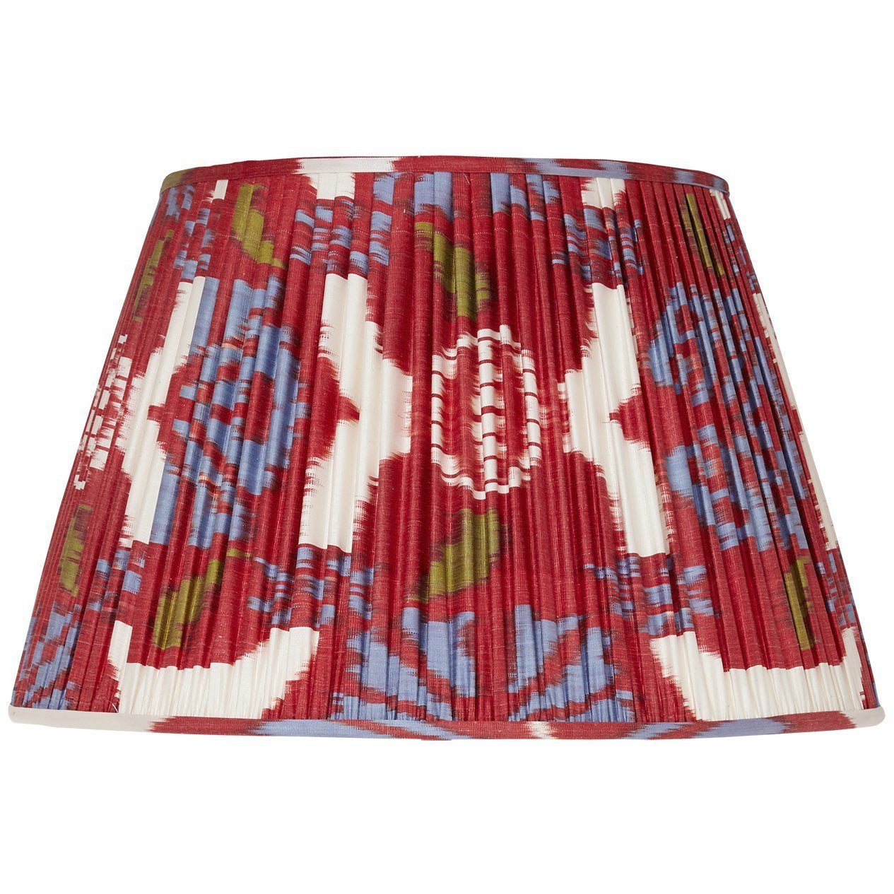Red Silk Ikat Lampshades Shot