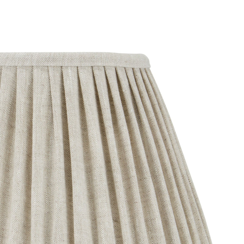 PLEATED LINEN LAMPSHADE IN OATMEAL