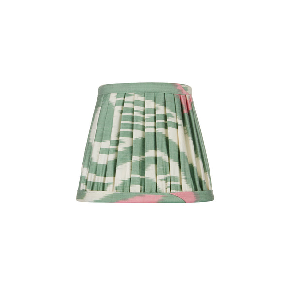 Green and Pink Silk Ikat Lampshades