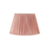 PLEATED SILK LAMPSHADE IN DUSTY PINK