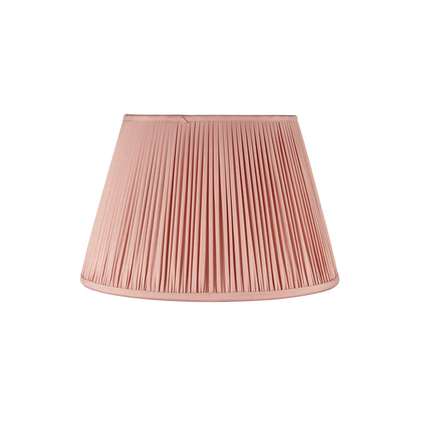 Gathered Silk Lampshade in Dusty Pink
