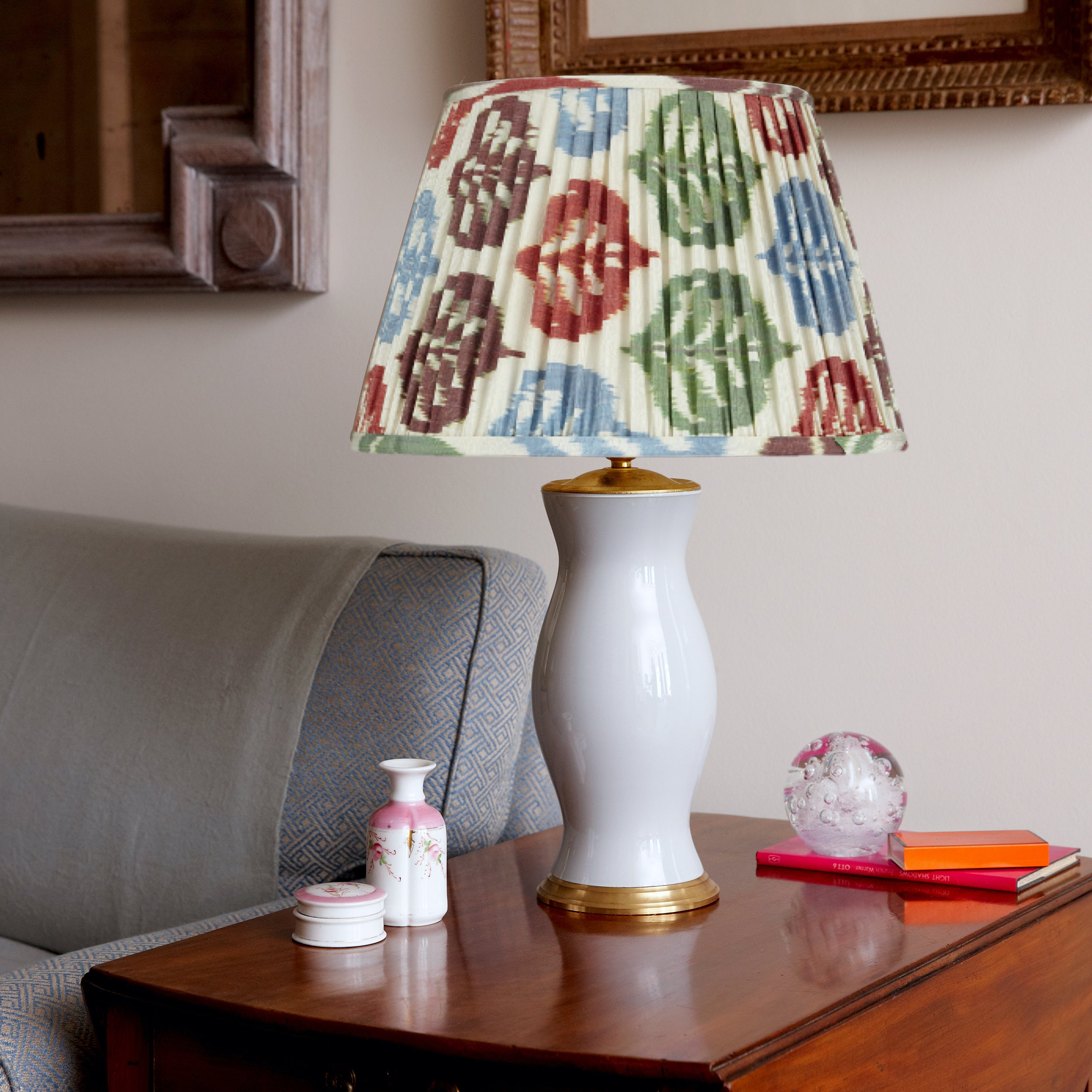 Autumnal Silk Ikat Lampshades Shot