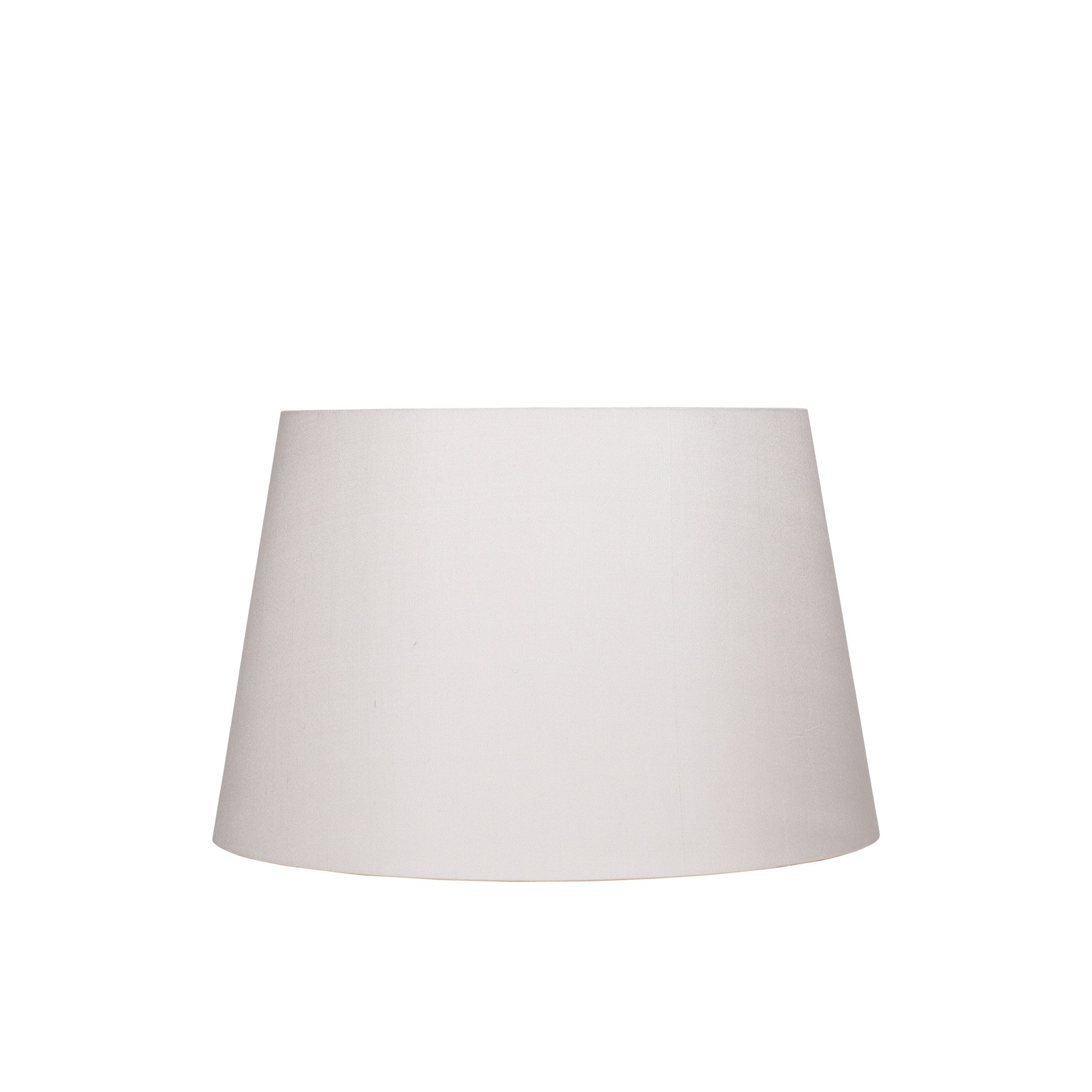 Medium stretched silk lampshade in ivory