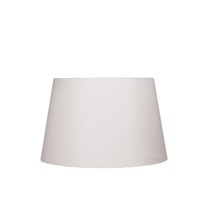STRETCHED SILK LAMPSHADE IN IVORY