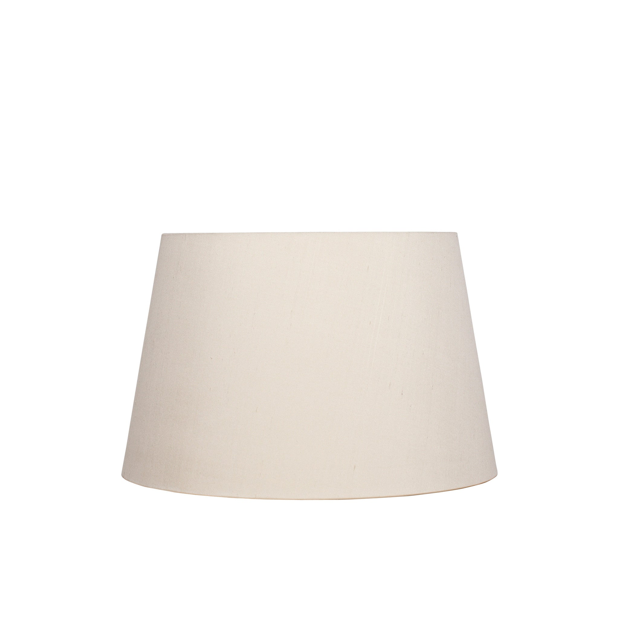 Large stretched silk Lampshade in Cream
