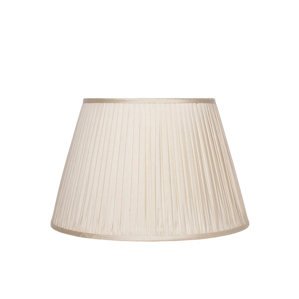 Gathered Silk Lampshade in Cream