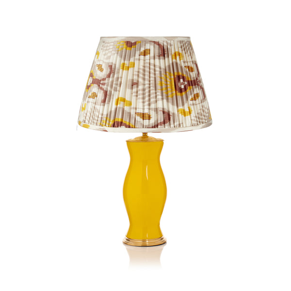 GREY AND MUSTARD YELLOW SILK IKAT LAMPSHADES (ONLY 2 LEFT in 16
