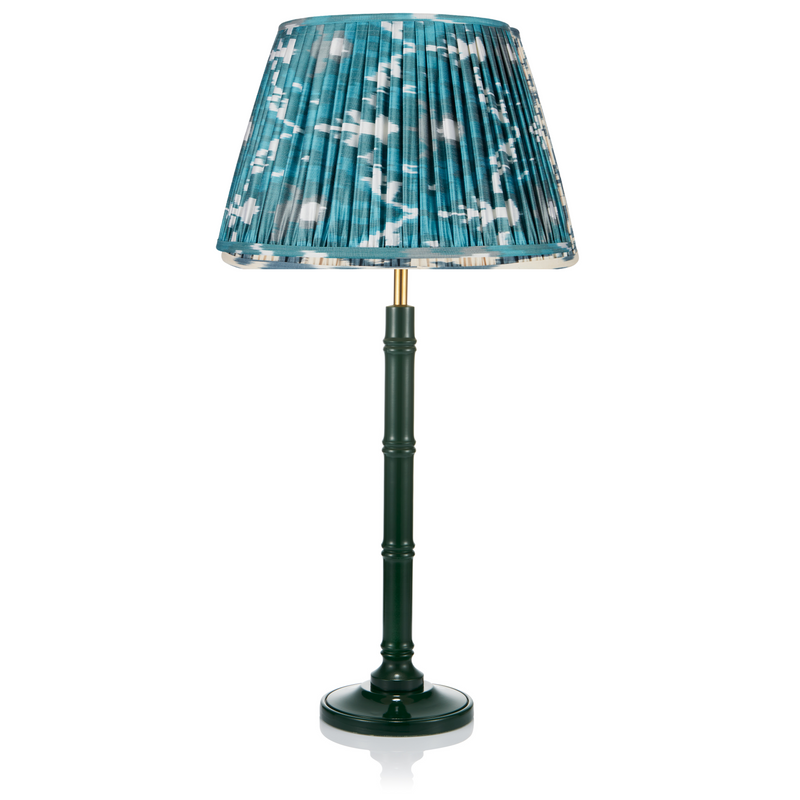 SMALL BAMBOO LACQUERED LAMP IN GREEN