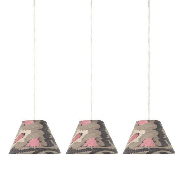 Small Pendant Ikat Grey Lampshade - only 2 left