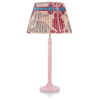 SMALL BAMBOO LACQUERED LAMP IN PINK