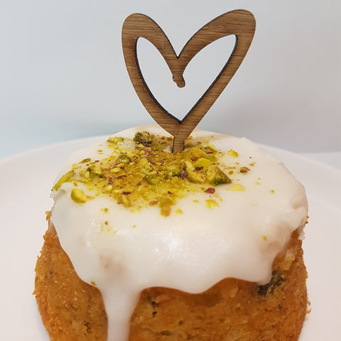 NZ Cupcake Topper - Open Heart