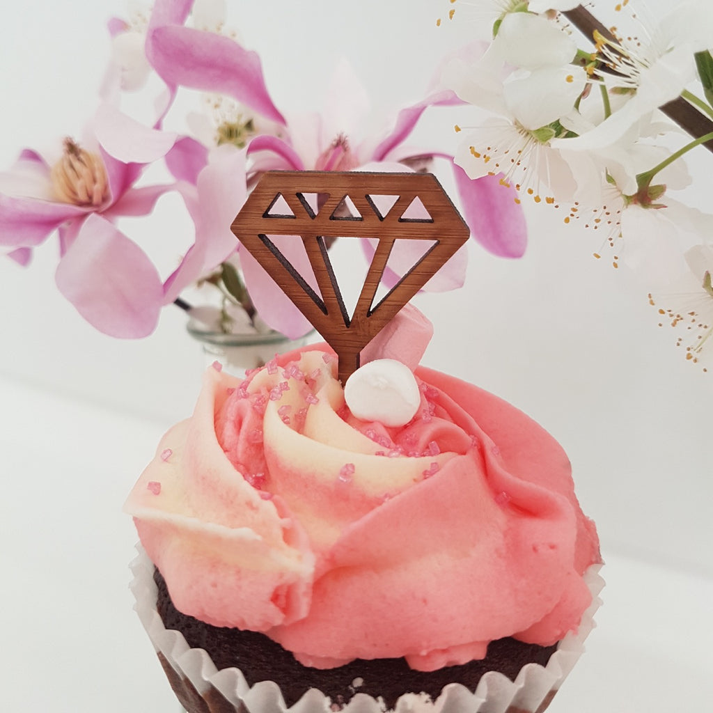 NZ Cupcake Topper - Diamond