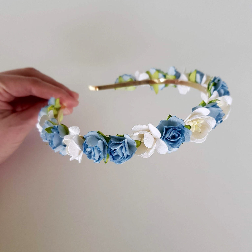 Headband - Blue/White