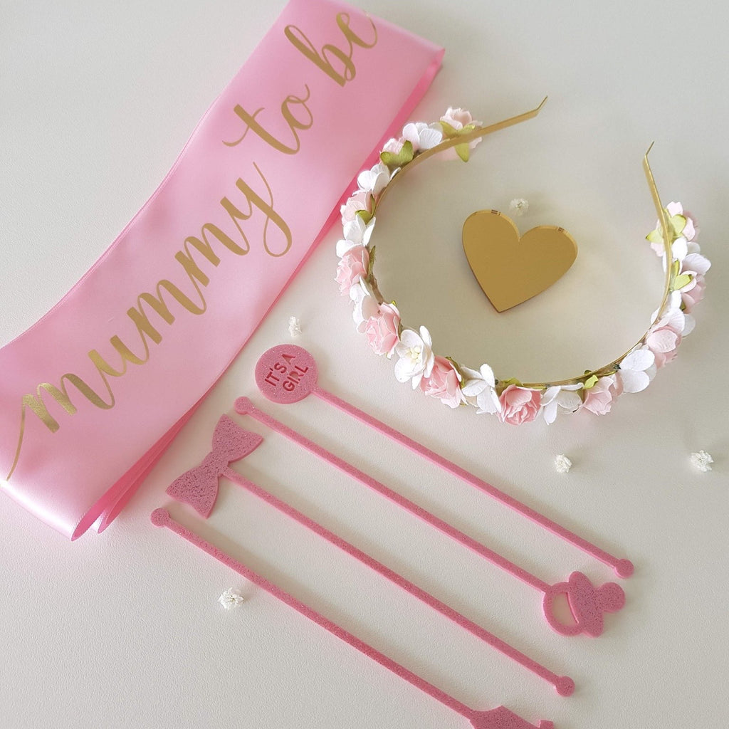 Acrylic Stirrers, It's A Girl (Various Designs)