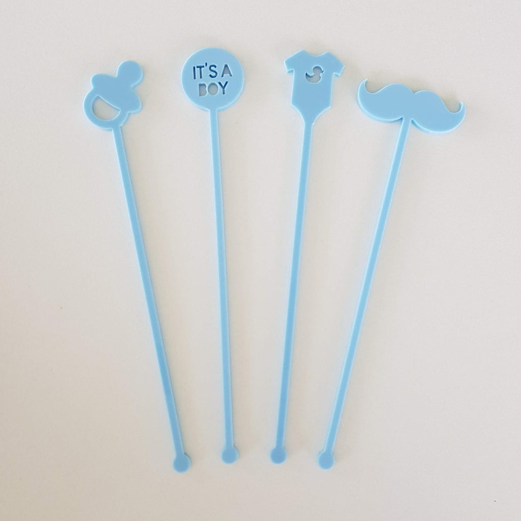 Acrylic Stirrers, It's A Boy (Various Designs)