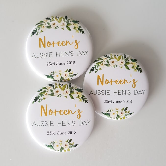 Personalised Badges - 38 or 57mm - Botanical