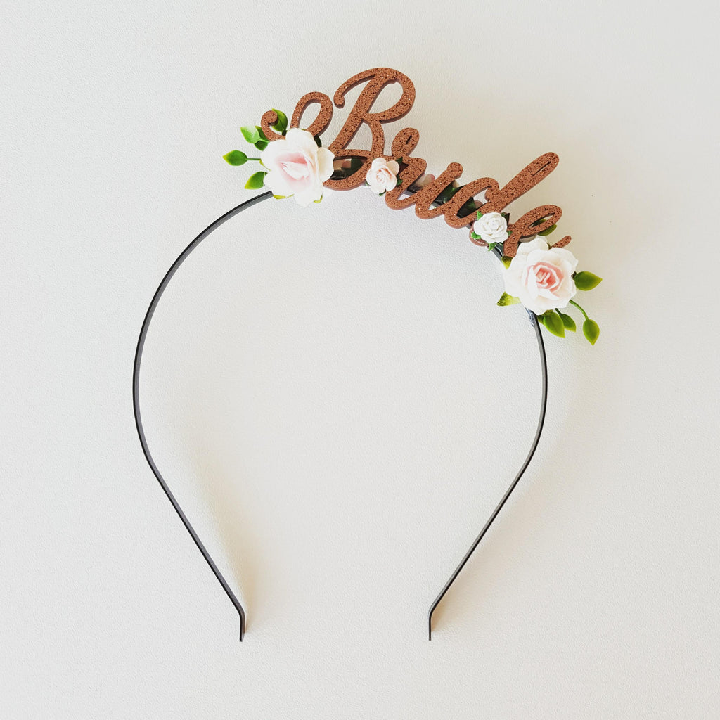 Headband - Bride - Copper/White/Pink/Green