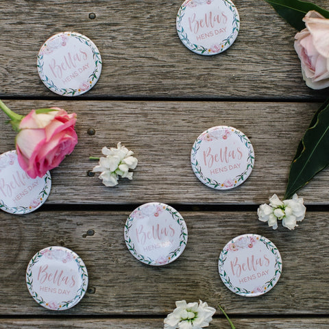 Personalised Badges - 38 or 57mm - Blush Filled