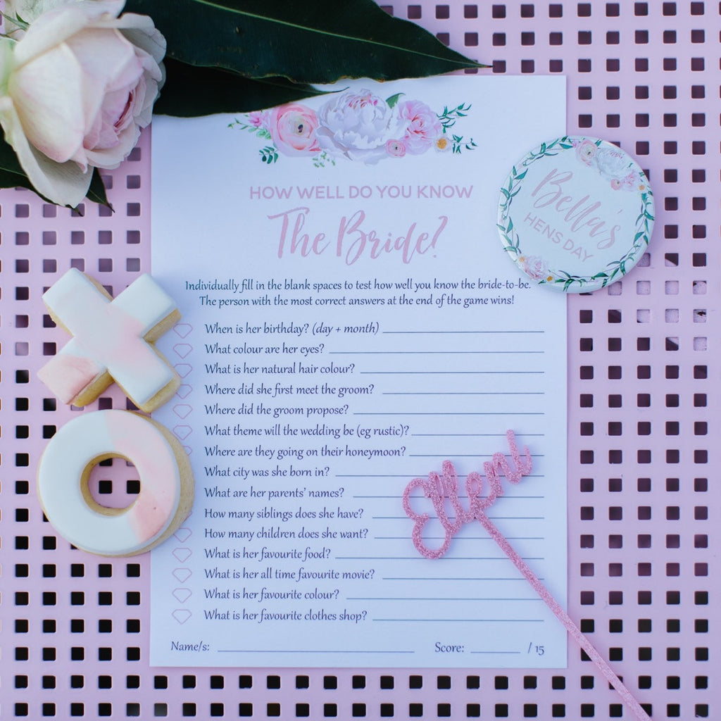 Game Cards - Blush Filled Suite - Various