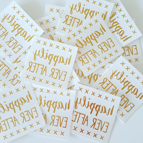 Temporary Tattoo, Gold Foil - Happily Ever After