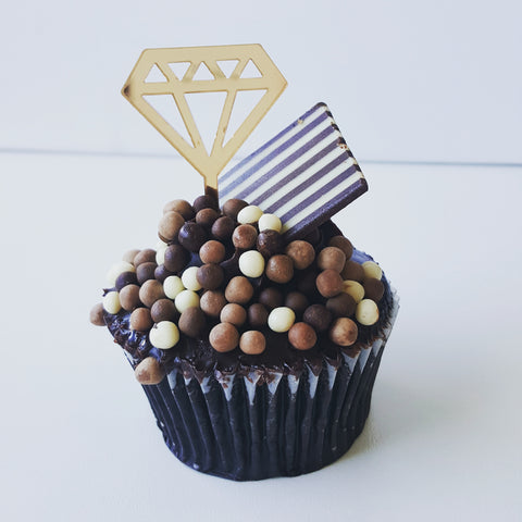 Cupcake Topper - Diamond (Various Colours)
