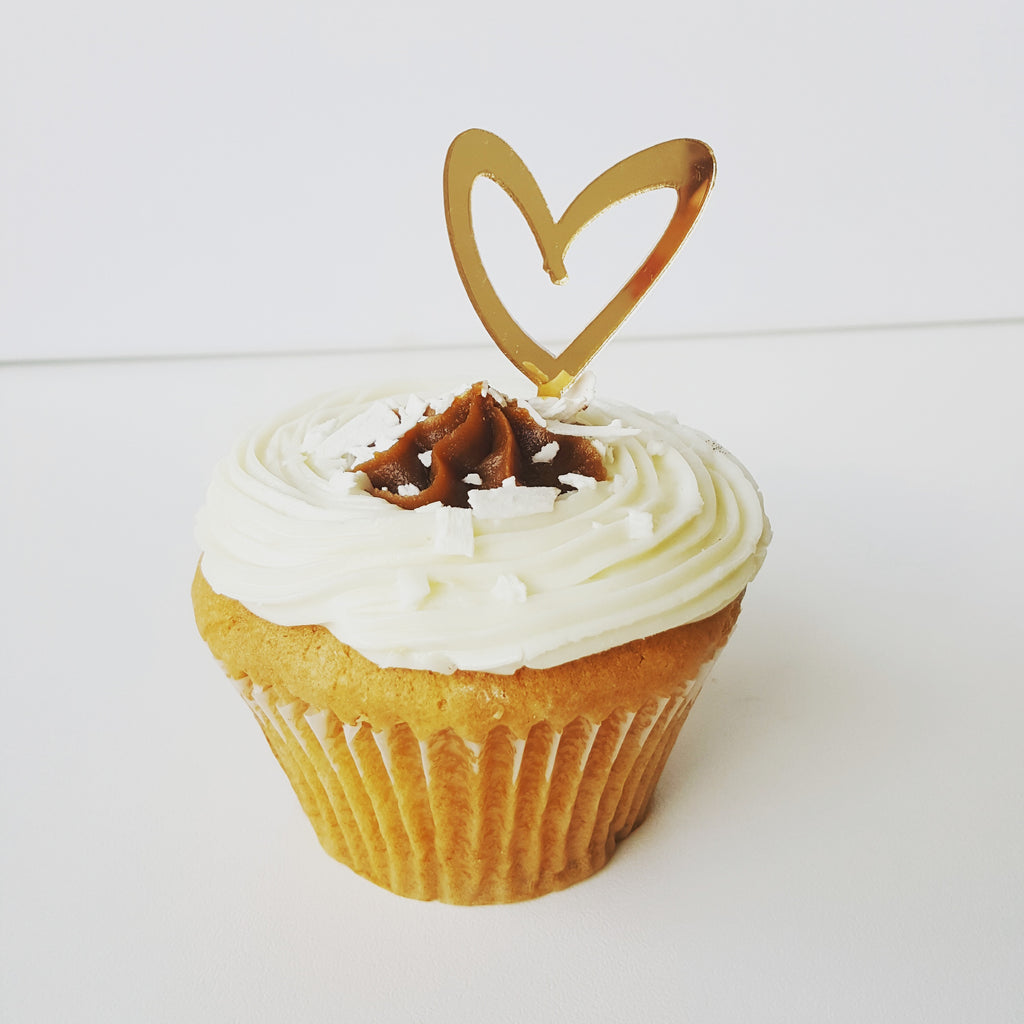 Cupcake Topper - Open Heart (Various Colours)