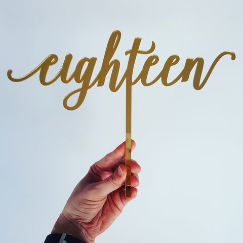 Cake Topper - Eighteen