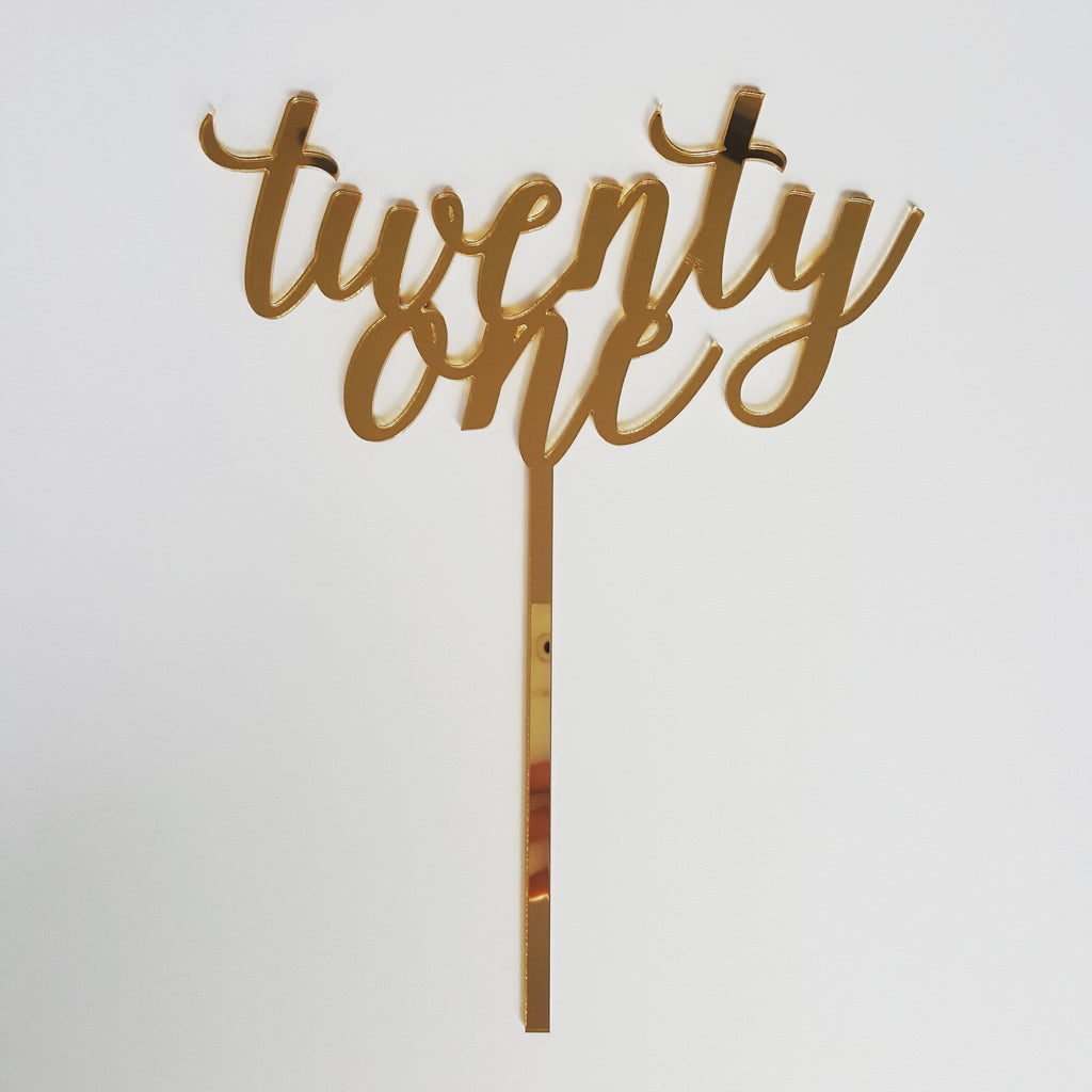 Cake Topper - Twenty One