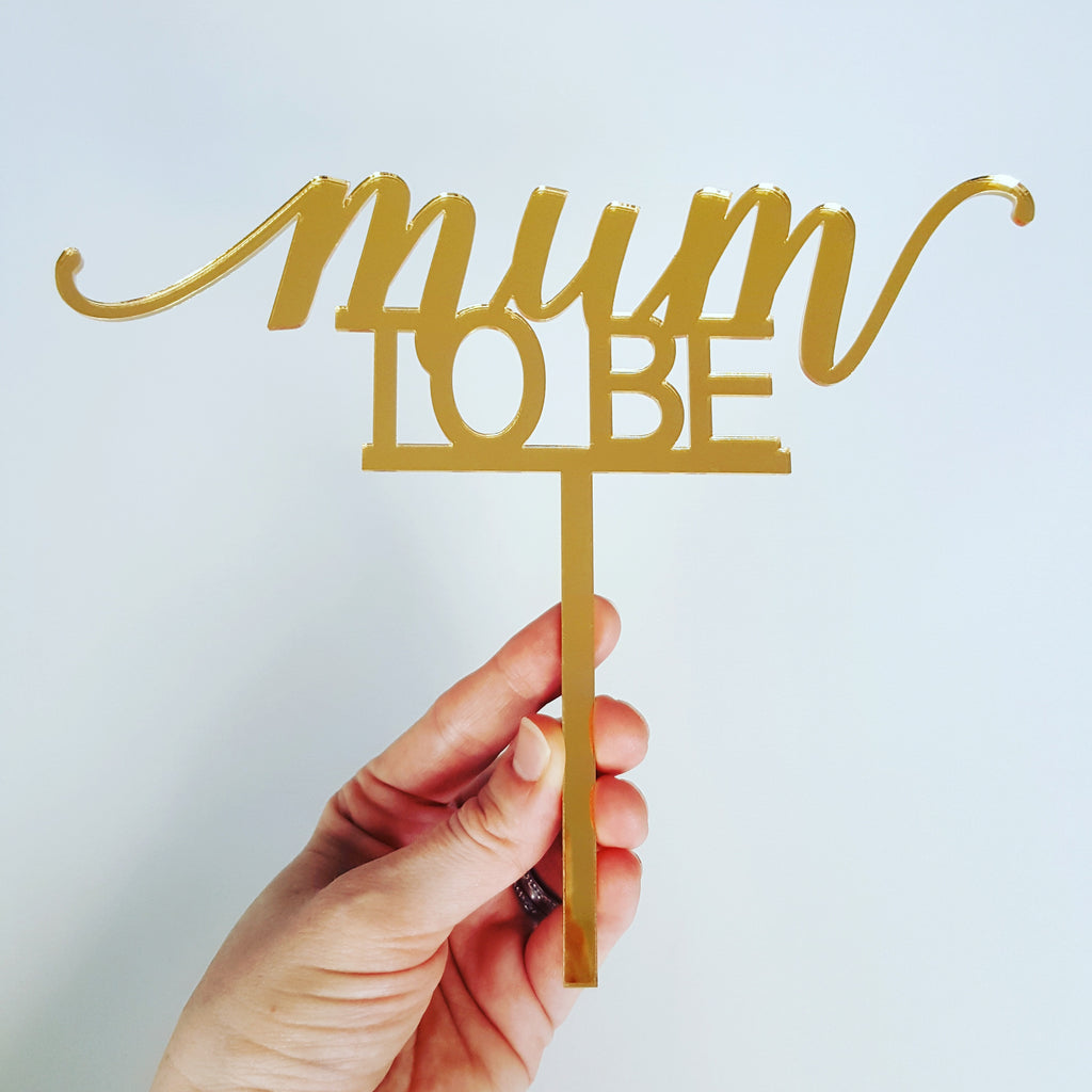 Cake Topper - Mum to Be (Boy)
