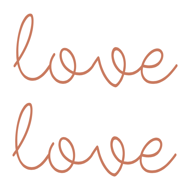Temporary Tattoo, Rose Gold Foil - Double the Love