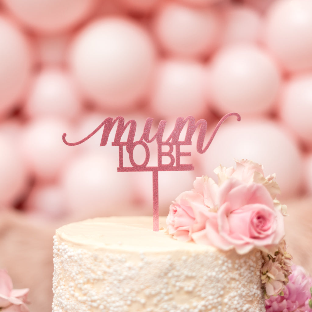 Cake Topper - Mum to Be (Girl)