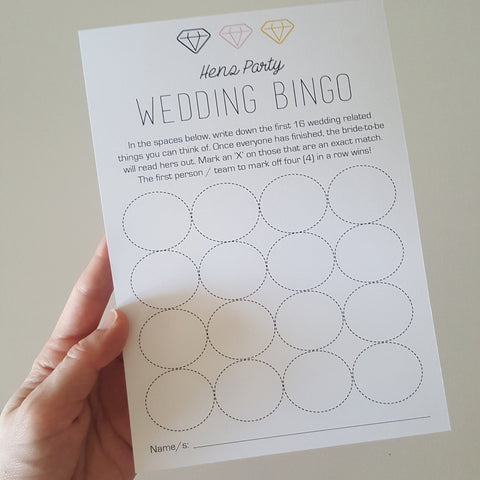Wedding Bingo Cards (x10)