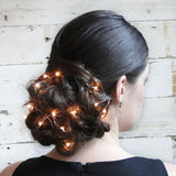 Holiday Hair How-to: The Illuminated Braided Bun