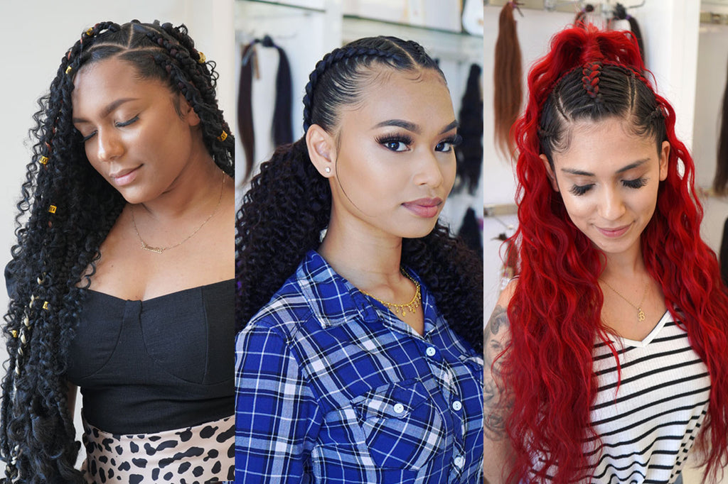 Long Braided Hairstyles Using Extensions Perfect Locks