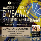 UPDATE: Warriors Tickets Giveaway