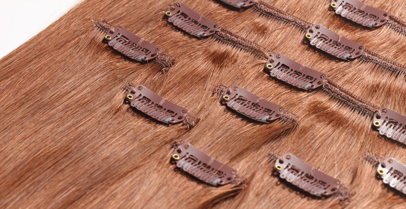 Remy clip-in hair extensions